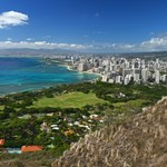 Panoramic view from Diamond Head summit