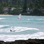 Surf break on flat island