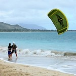 Kailua Beach Kite Surfer