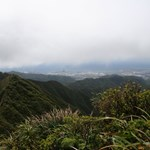 Looking down on Honolulu from Moanalula Ridge Trail.