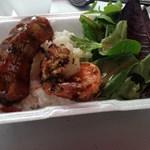 Hawaiian BBQ Baby Back Ribs & Garlic Shrimp