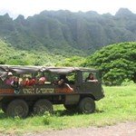 Mahalo Nui to the staff at Kualoa: Brandon, Thor & Tyler. We ran into a minor hiccup with the vehicle about half way up the valley for our jungle expedition. It turned into an awesome adventure for us moms & keiki. The staff went above & beyond in making our adventure complete. A new vehicle was immediately set up and the bonus T-Rex at the top of our journey, together with keiki horse rides at the Farm Fair was most appreciated! Can't wait to tell our friends and visit again for other tours & activities‼!
