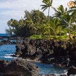 Experience the rocky shores of Hana