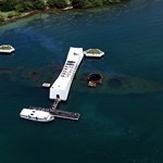 Aerial View of the U.S.S. Arizona Memorial