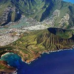 Aerial View of Hanauma Bay and Koko Head Crater