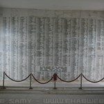 Photo of USS Arizona memorial wall