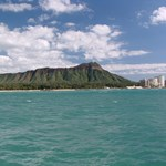 View of Diamond Head from the beach