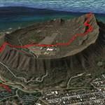 Hiking trail, Diamond Head, Oahu