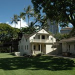 Hawaii, Oahu, Honolulu, Mission Houses Museum in the downtown Honolulu