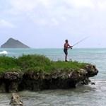 fisherman on Flat Island