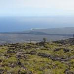 Lava Flows Near Cliff