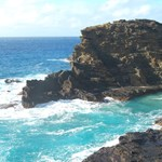 By the blow hole, Halona Cove