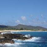 Sandy beach park from Halona Cove