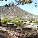 Pahua Heiau with Koko Crater in the background