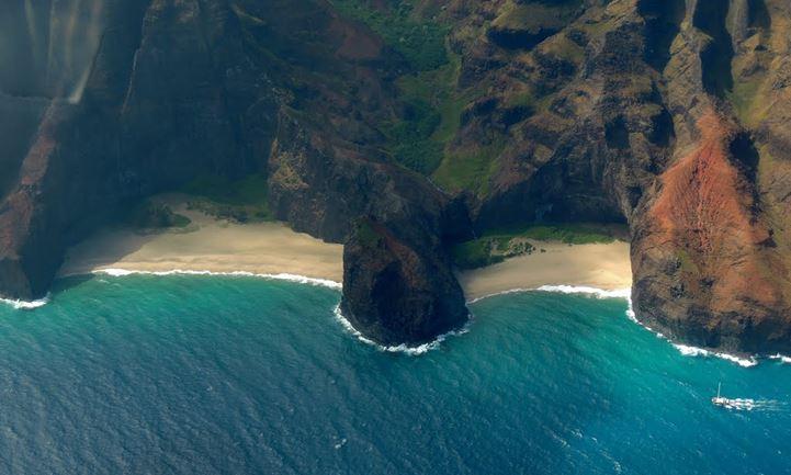 Image result for Honopu Beach, Kauai, Hawaii