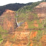 Waipo'o Falls from Helicopter