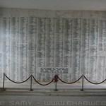 Photo of USS Arizona memorial wall
