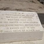National memorial cemetery commemoration stone